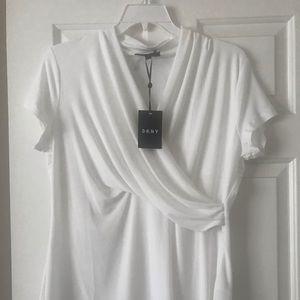 DKNY white blouse
